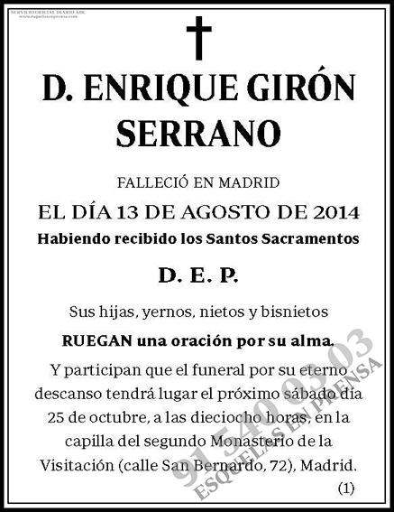 Enrique Girón Serrano